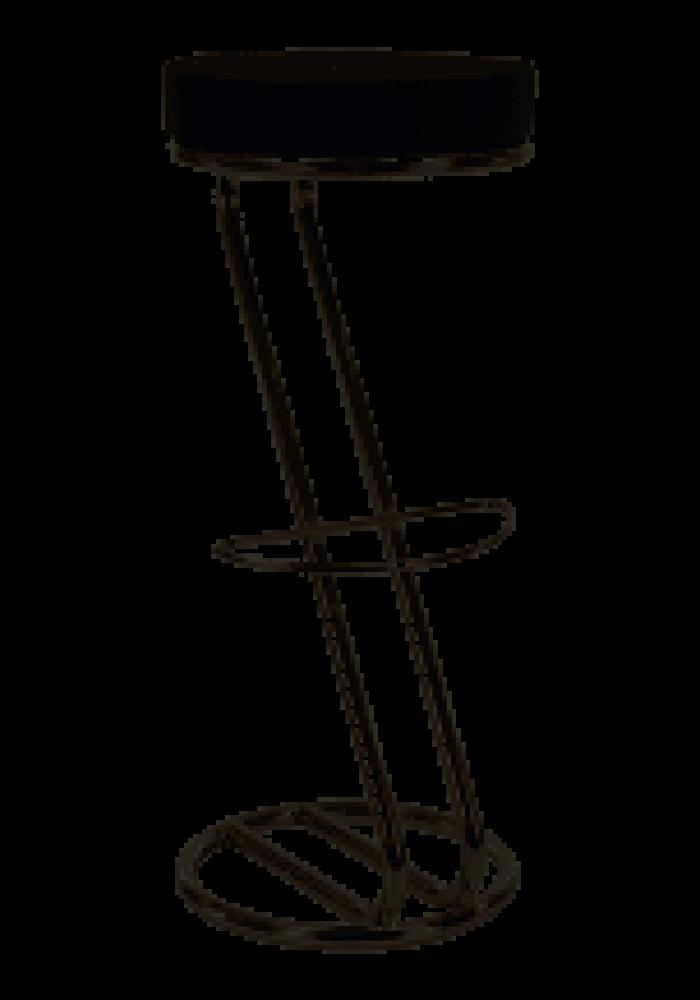 Barkruk Zeta, de vorm van de letter Z in de kleur Zwart|VDB Kantoortotaal