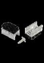 NIEUW Beschermdoppen transparant zonder pin voor alle sledestoelen met een ronde buis, doorsnede 12 mm. Voorkom krasschade aan vloeren. Per 4 verpakt.