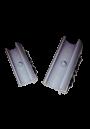 NIEUW Beschermdoppen grijs met pin voor alle sledestoelen met een ronde buis, doorsnede 12 mm. Voorkom krasschade aan vloeren. Per 4 verpakt.