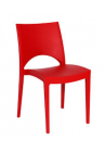 Kantinestoel/ terrasstoel/kunststofstoel Parri rood|VDB Kantoortotaal